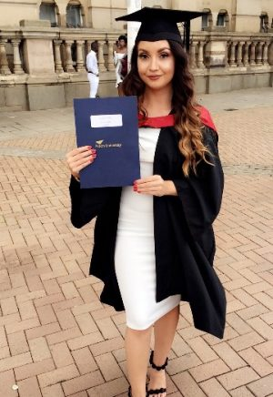 Former A Level student Victoria Clarke