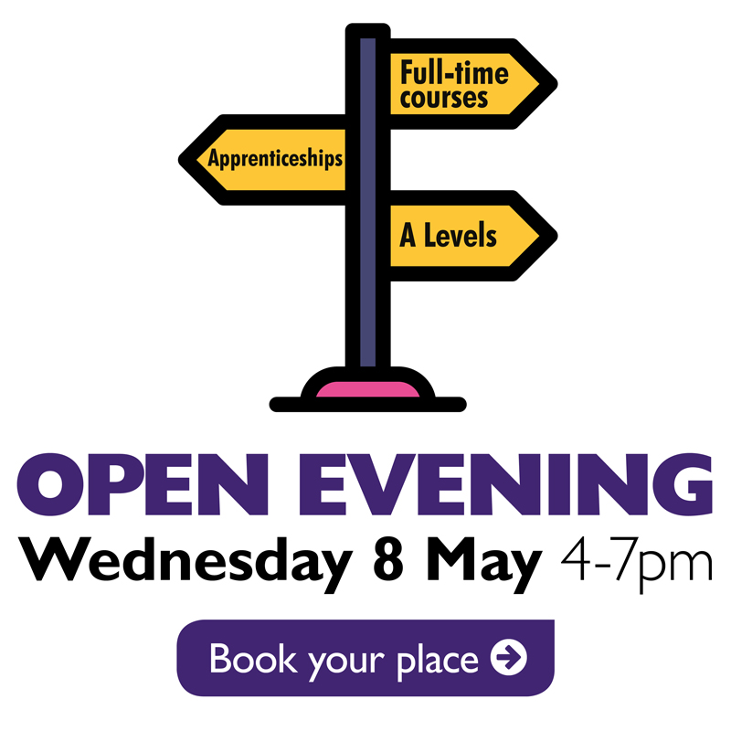 Open Evening - Wed 8 May 4-7pm